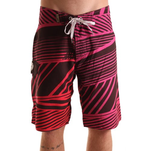 LIGHT Jungen Boardshort Stress, red/black, 32 (M), LSDMBS0312