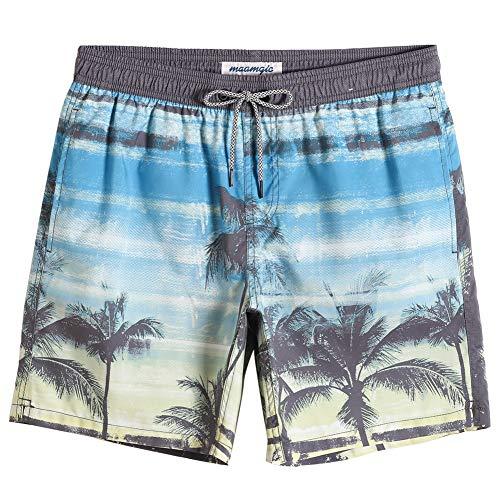 MaaMgic Badehose für Herren Jungen Badeshorts für Männer Schnelltrocknend Surfen Strandhose Surf Shorts mit Mash-Innenfutter MEHRWEG Strand