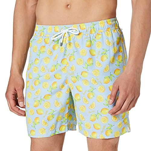 Hackett Mens Lemon Swim Trunks, 0AAMULTI, XXL