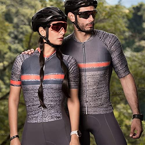 Triathlonanzug Damen Radanzug Overall Herren und Damen Radfahren Laufen Badeanzug Jersey Pro Sportswear (Color : Khaki, Size : X-Large)
