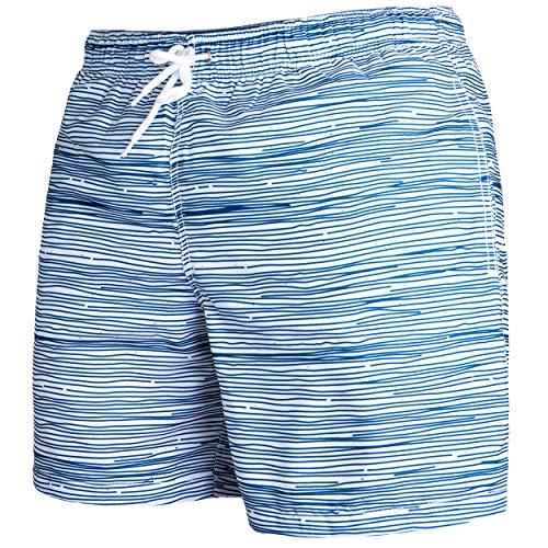 Occulto Herren Männer Badehose in vielen Farben   Badeshort   Bermuda Shorts   Beachshort   Slim Fit   Schwimmhose   Boardshort   Jungen (XL, Navy)