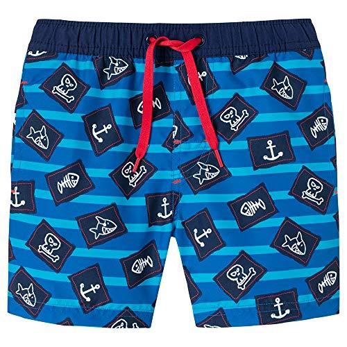 Schiesser Jungen Capt´N Sharky Swimshorts Badeshorts, Blau (Admiral 801), 92 (Herstellergröße: 092)