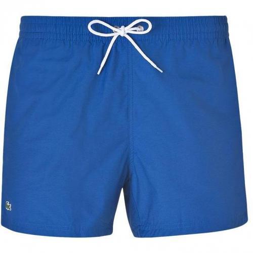 Cotton-Blend Swim Trunks in Marine Blue von Lacoste